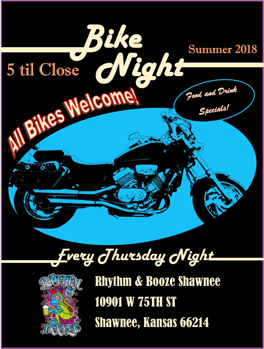 rhythm and booze shawnee thrusday night bike night