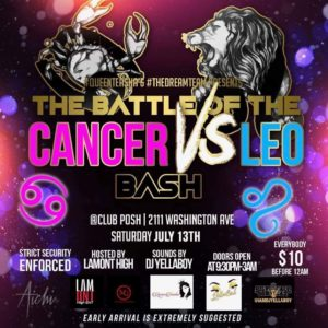 Rhythm-Booze-Club-Posh-Battle-Cancer v Leo 7-13-19